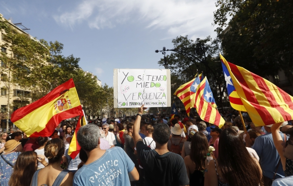 Manifestación contra los atentados yihadistas en Cataluña.Foto:EFE