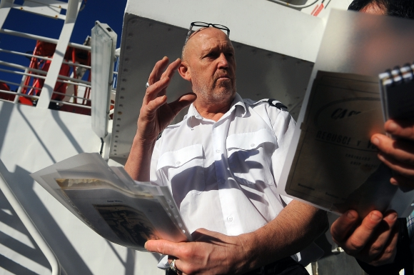 Brian Winton: hijo de un marinero inglés que se enteró del final de la SGM en un teatro de Montevideo. Foto: Fernando Ponzetto