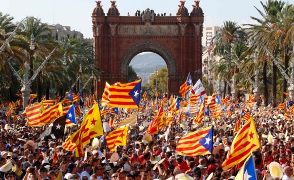 Miles pidieron por la separación con España. Foto: AFP