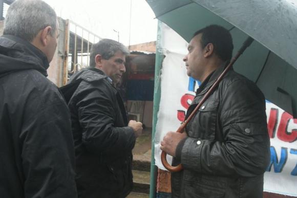 Raúl Sendic y en el comité Unidad Teja. Foto: Francisco Flores.