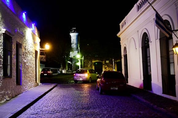 El Barrio Histórico queda tranquilo por la noche. Foto: G. Pérez.