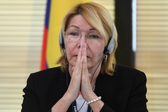 La fiscal general de Venezuela ayer en Brasilia en una reunión de colegas. Foto: AFP