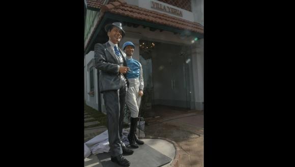 El tercer Gardel: fue hecho por el mismo artista que hizo el del bar Facal y el del Parque Central. Foto: Francisco Flores