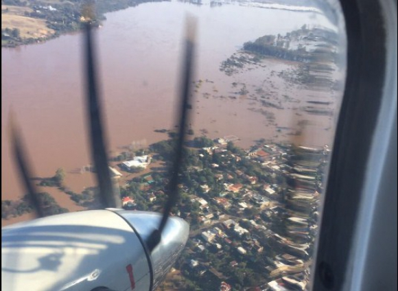 Zonas inundadas de Salto. Foto: Presidencia