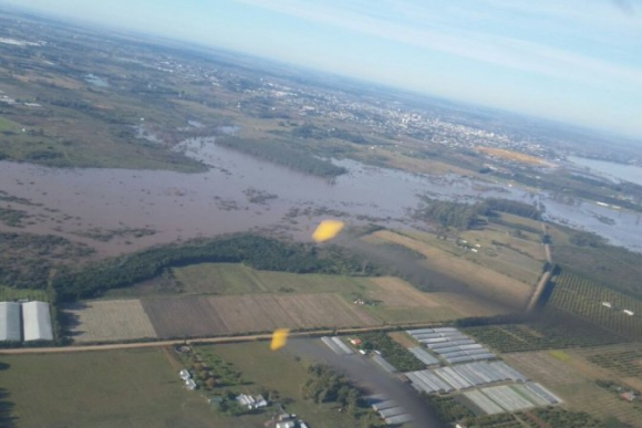 Zonas inundadas de Salto. Foto: Presidencia.