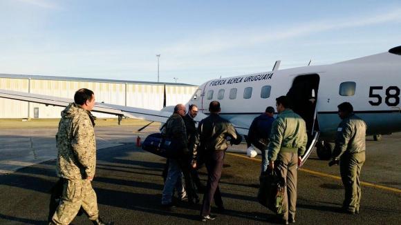 Autoridades de la OPP y Sinae viajan a zonas afectadas por inundaciones. Foto: @oppuruguay