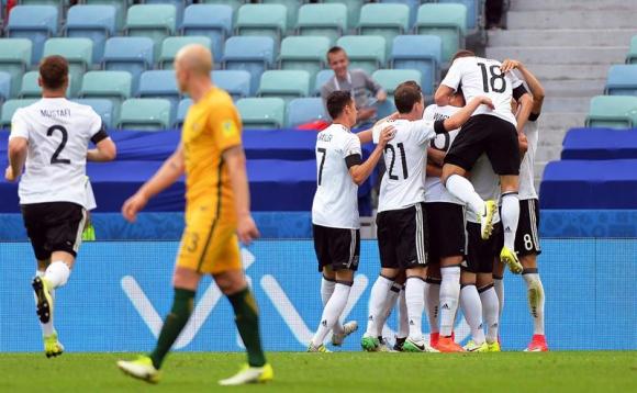Alemania venció a Australia por 3-2 en la Copa de las Confederaciones. Foto: EFE