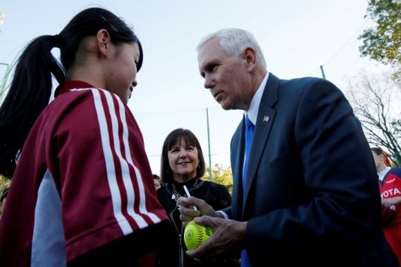 MIke Pence en Japón. Foto: Reuters.