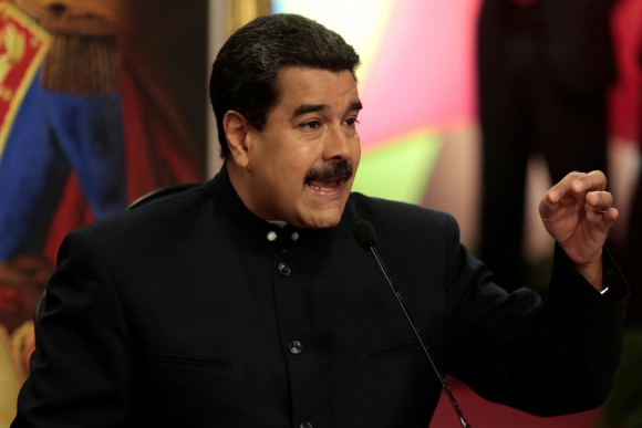 Maduro en conferencia con periodistas de medios locales y extranjeros. Foto: Reuters