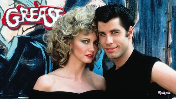 Afiche de la película Grease. El mismo look para Patricia y Agustina.