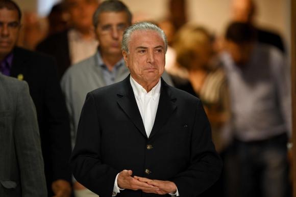 """Temer:"""" fui ingenuo al recibir a Batista en mi residencia"""". Foto: AFP"""