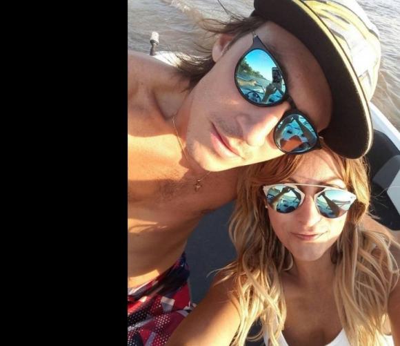 Marcela Tauro y su nuevo novio.