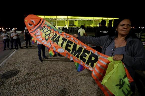 Protestas en Brasil. Foto: EFE