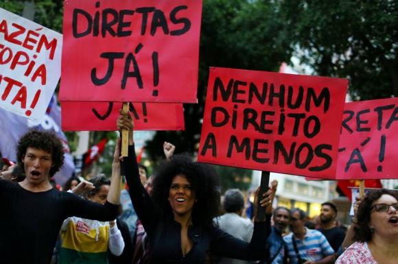 Protestas en Brasil. Foto: AFP