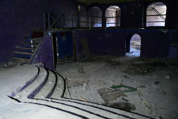 Destrozos: la Intendencia de Canelones no frenó el ingreso de malvivientes a las instalaciones de la antigua discoteca de Marindia. Foto: M. Bonjour