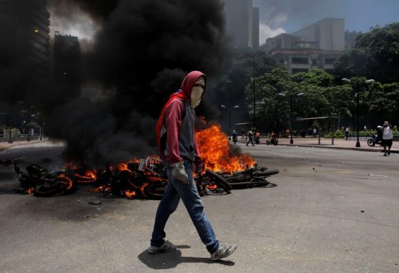 Protestas en Venezuela. Foto: Reuters
