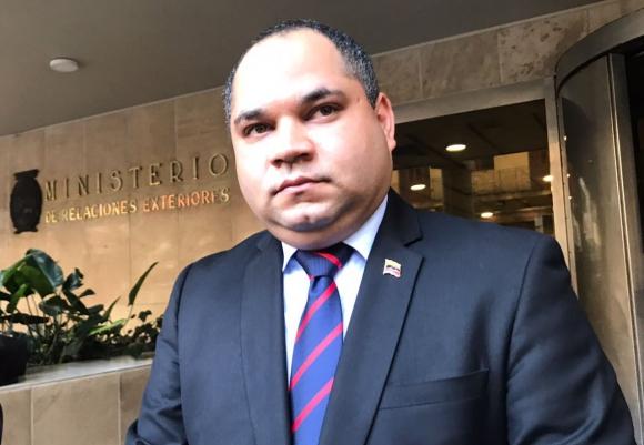 Embajador de de Venezuela en Uruguay, Julio Chirino. Foto: Pablo Fernández