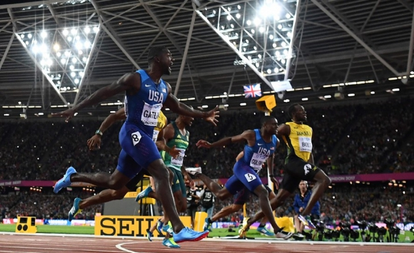 La despedida de Usain Bolt de los 100 metros llanos en el Mundial de Atletismo. Foto: AFP