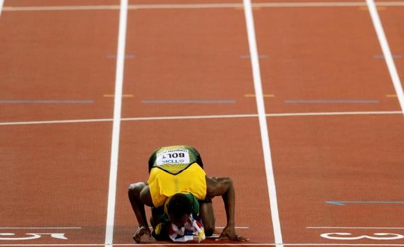 La despedida de Usain Bolt de los 100 metros llanos en el Mundial de Atletismo. Foto: Reuters