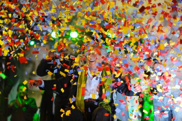 Moreno se proclamó ganador con los primeros resultados a boca de urna. Foto: AFP
