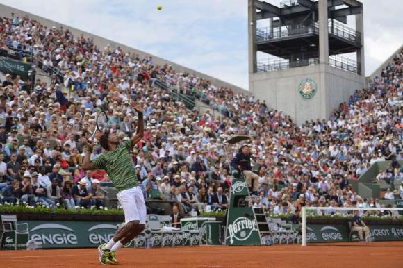 Gael Monfils en Roland Garros. Foto: AFP.