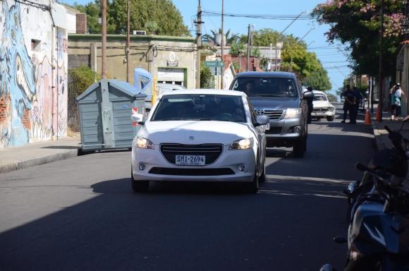 Sanabria llegando a Maldonado. Foto: Ricardo Figueredo