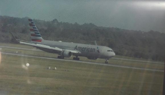 El avión que trajo a Francisco Sanabria. Foto: F. Flores