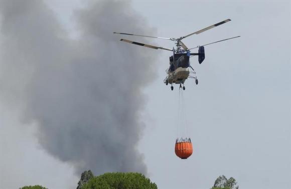 Incendio en España. Foto: EFE