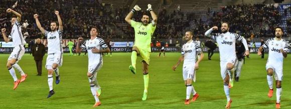 Juventus festeja el triunfo. Foto: AFP