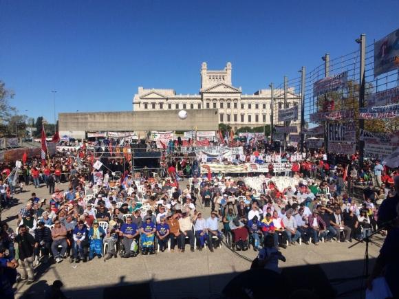 Acto del Pit-Cnt por el Día de los Trabajadores. Foto: Fernando Ponzetto