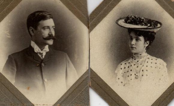 Jorge Borges y Leonor Acevedo de Borges, padres de Borges. Foto: Gentileza Pelayo Amorim