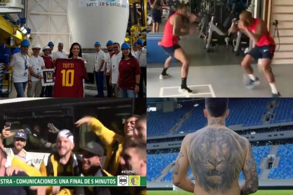 Totti al espacio, la canción de la final, los compañeros de Neymar y más
