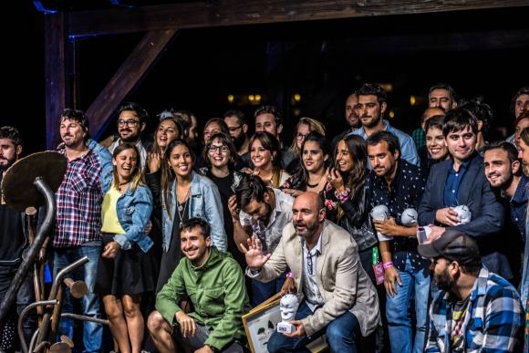 Los ganadores de los Baleros posaron para la foto al cierre del Desachate.