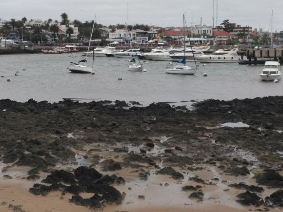 Bajante en Punta del Este. Foto: Ricardo Figueredo