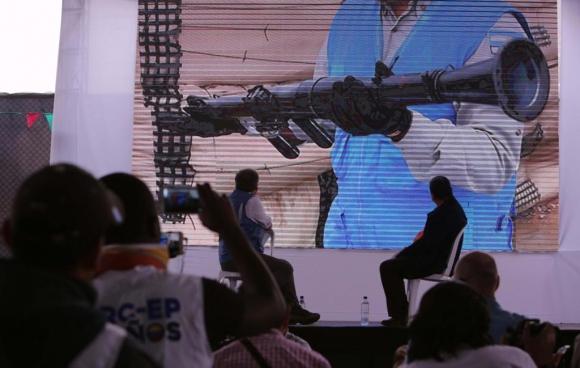 Mujica en Colombia por acto de desarme de las Farc. Foto: EFE