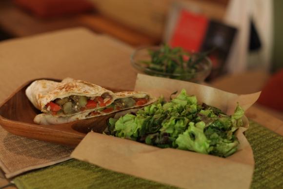 Wrap cannábico en Hemp- T Café. Foto:  Gabriel Rodríguez