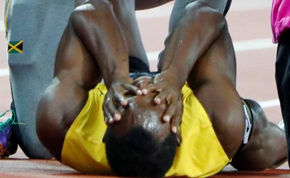 Usain Bolt se despidió con lesión en el Mundial de Atletismo. Foto: Reuters