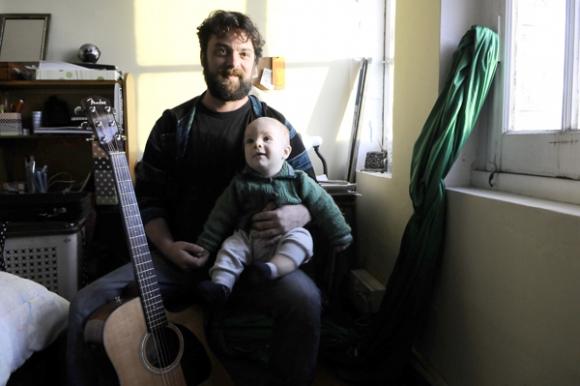Piero, hijo del músico Santiago Bolognini, nació en el mismísimo Palacio. Foto: Darwin Borrelli.