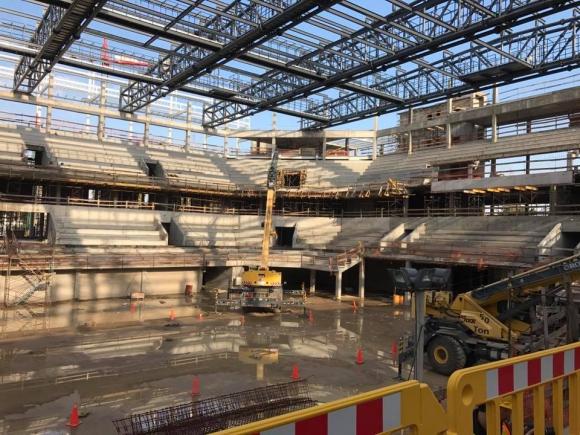 El Antel Arena será un estadio multiuso con capacidad para 10.000 espectadores. Foto: FUBB