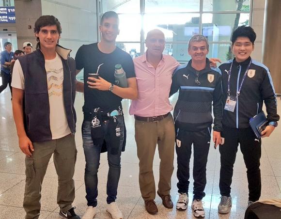 Rodrigo Bentancur se sumó a la selección juvenil en Corea del Sur. Foto: Prensa Uruguay