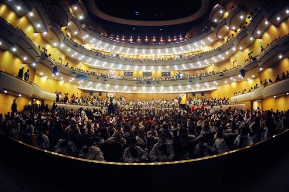 Escolares en el ballet. Foto: Fernando Ponzetto