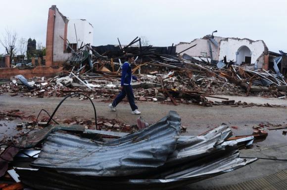 Tornado en Dolores. Foto: Fernando Ponzetto