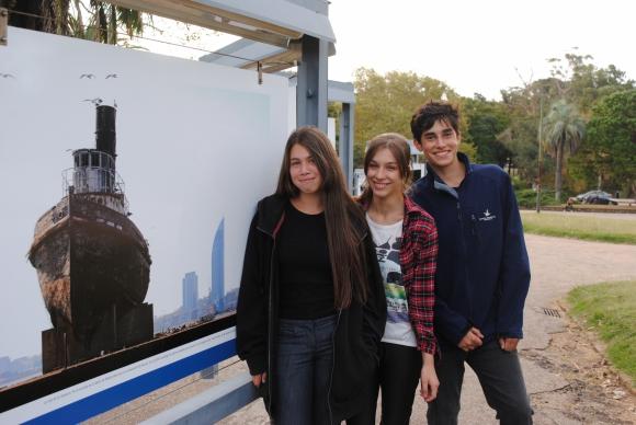 Valentina Piñeyro, Mellanie Aguiar, Ignacio Grignolo.