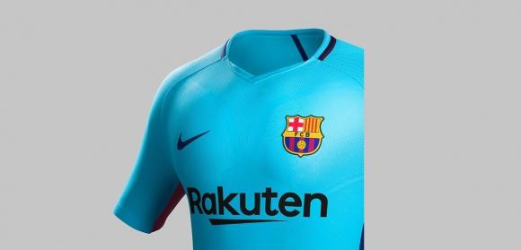 La nueva camiseta alternativa del Barcelona para la temporada 2017-2018. Foto: @FCBarcelona
