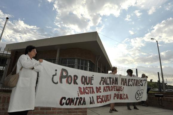 Vázquez recorre hoy tres escuelas. Foto: Leonardo Mainé