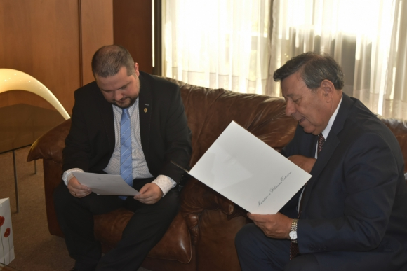 Nin Novoa se reunió con Ivan Eginsson. Foto: Cancillería