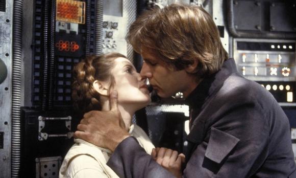 """Carrie Fisher y Harrison Ford en """"Star Wars"""". Foto: Difusión"""
