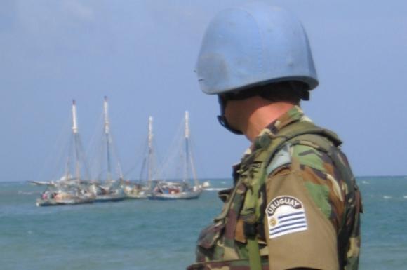 Desde el 2004, las tropas uruguayas participan de las misiones de paz en Haití. Foto: Archivo El País.