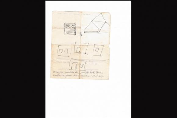 Un diagrama del material del ferromodelista Wilson Ferreira Aldunate, de su puño y letra (Foto: Ruperto Long).