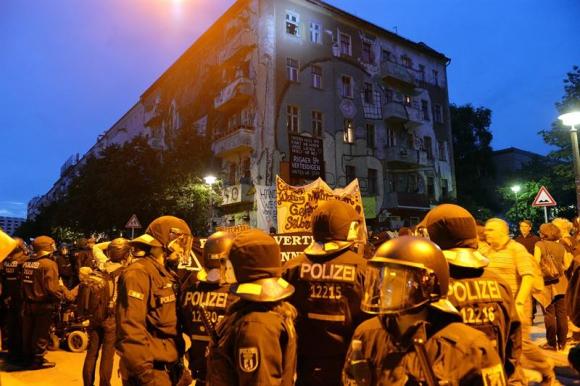 Disturbios en Berlín. Foto: Efe